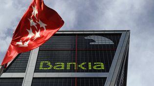 Le siège de la banque espagnole Bankia, le 18 juillet 2011. (PIERRE-PHILIPPE MARCOU / AFP)