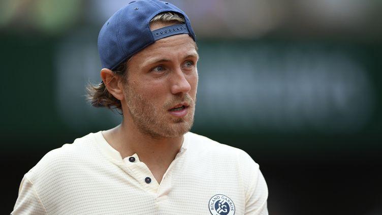 Lucas Pouille, numéro 1 français, ne verra pas les huitièmes.   (ERIC FEFERBERG / AFP)