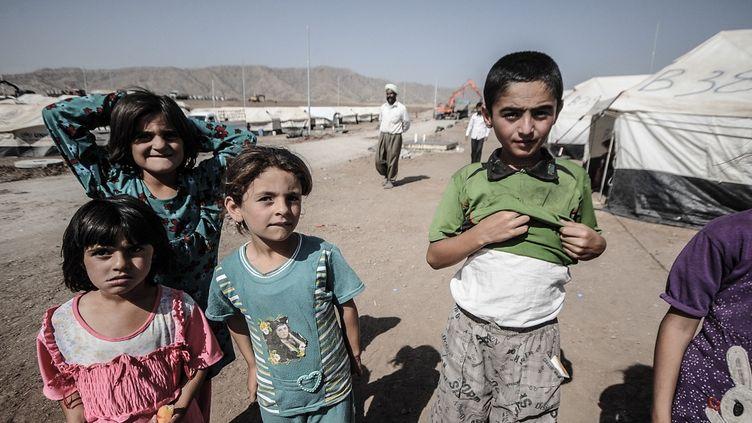 Des milliers de réfugiés yézidis fuyant l'avancée de l'Etat islamique vivent dans le camp de Zakho, dans le nord de l'Irak. (GAIL ORENSTEIN / NURPHOTO)