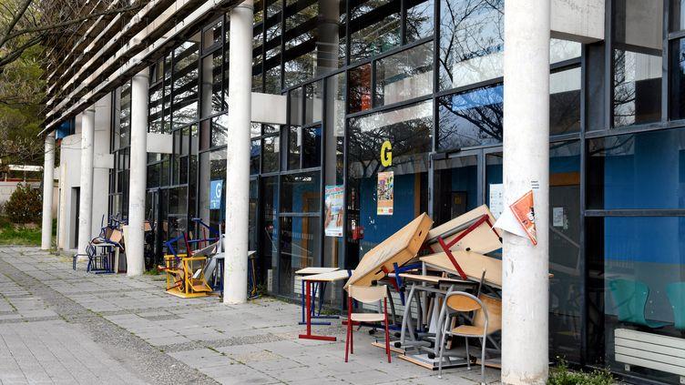 L'université Paul Valéry bloquée au printemps 2018. (RICHARD DE HULLESSEN / MAXPPP)