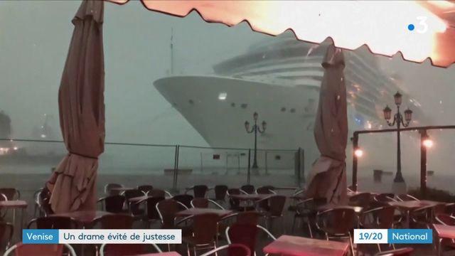 Venise : un bateau de croisière frôle le drame à Venise