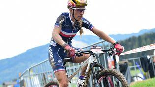 Pauline Ferrand-Prévot (ici lors des championnats du monde 2020) vise un titre olympique. (FOTO HUEBNER / PICTURE ALLIANCE / AFP)