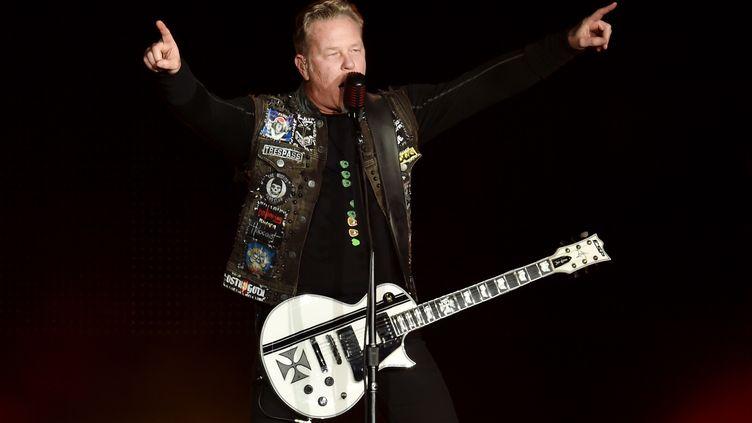 James Hetfield, membre du groupe Metallica, le 6 février 2016 à San-Francisco (Californie). (KEVIN WINTER / GETTY IMAGES NORTH AMERICA / AFP)