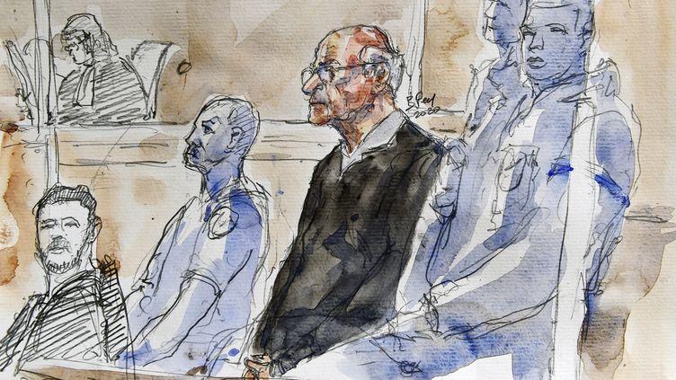 Joël Le Souarnec,devant la cour d'assises de Charente-Maritime, le 13 mars 2020. (BENOIT PEYRUCQ / AFP)