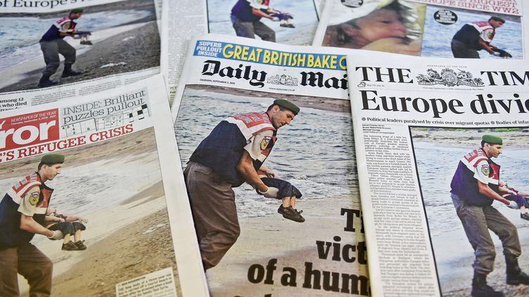 Les unes des journaux britanniques du 3 septembre 2015. (MAXPPP)