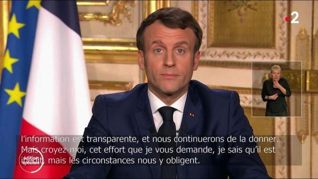 20h Coronavirus : Emmanuel Macron annonce une série de mesure
