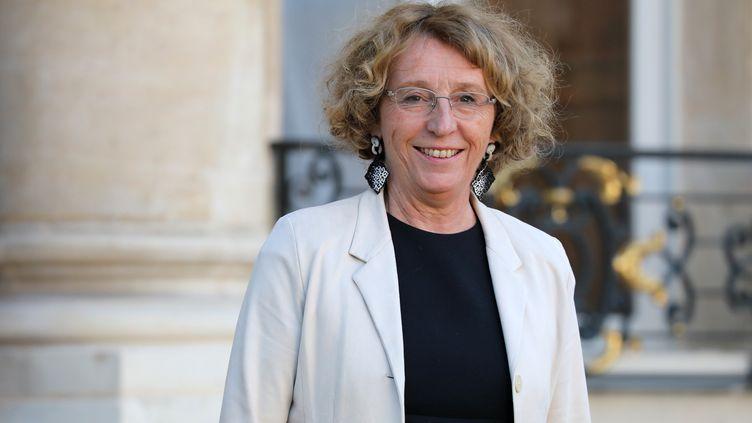 La ministre du Travail, Muriel pénicaud, quitte l'Elysée, à Paris, le 14 septembre 2017. (LUDOVIC MARIN / AFP)