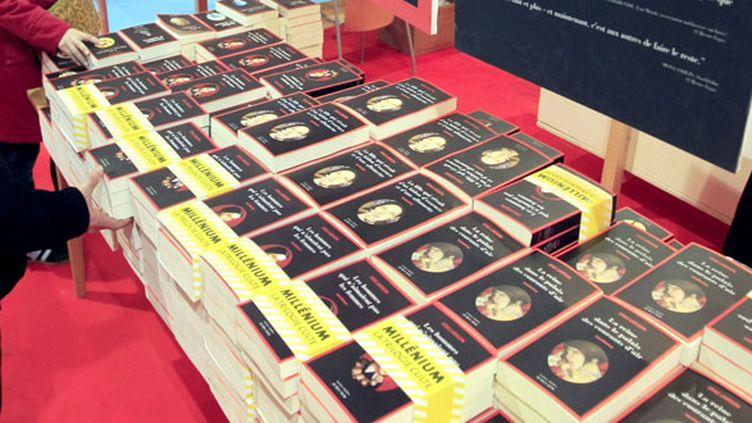 """Les trois tomes de """"Millénium"""" ont été vendus à 75 millions d'exemplaires dans le monde  (Jacques Demarthon / AFP)"""