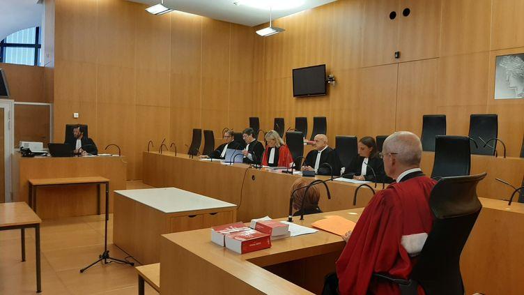 Le premier procès d'une cour criminelle départementale, le 5 septembre 2019 à Caen (Calvados). (MARCELLIN ROBINE / FRANCE-BLEU BASSE-NORMANDIE)