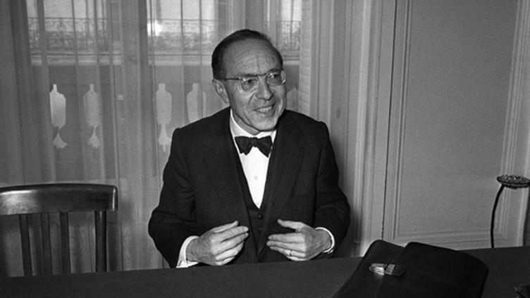 Jean-Marcel Jeanneney en décembre 1975 (AFP/)
