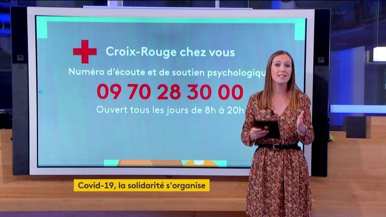Le numéro d'écoute de la Croix-Rouge (FRANCEINFO)