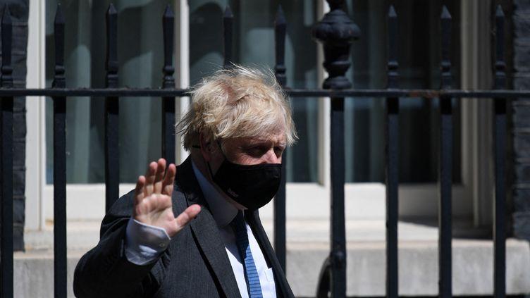 Le Premier ministre britannique, Boris Johnson, le 23 juin 2021 à Londres (Royaume-Uni). (DANIEL LEAL-OLIVAS / AFP)