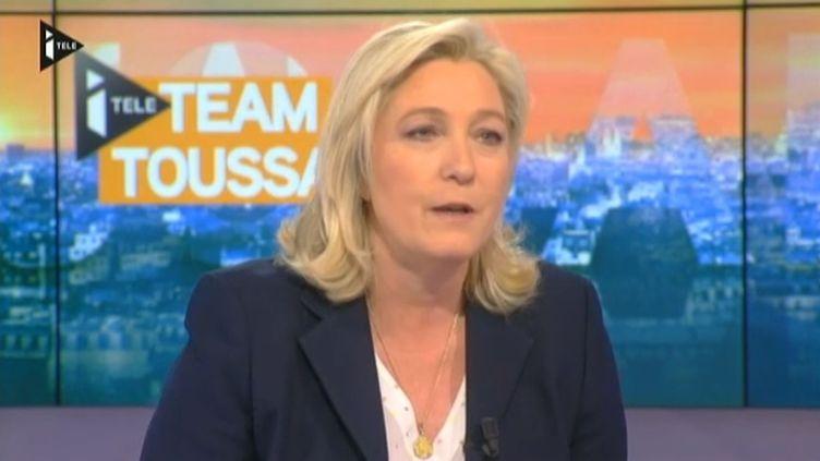 Marine Le Pen, présidente du FN, le 4 mars 2015. (I-TELE)