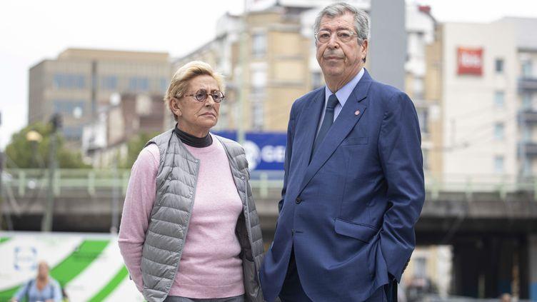 Isabelle et Patrick Balkany à leur arrivée au palais de justice de Paris, le 13 septembre 2019, pour le verdict de leur procès en première instance pour fraude fiscale. (MAXPPP)