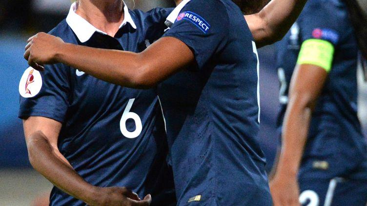 Marie-Laure Delie a marqué le premier but. (JEAN-FRANCOIS MONIER / AFP)