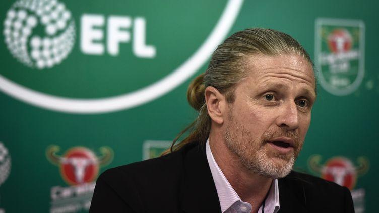 """Emmanuel Petit trouve que """"Wenger est encore l'homme de la situation"""" à Arsenal.  (LILLIAN SUWANRUMPHA / AFP)"""
