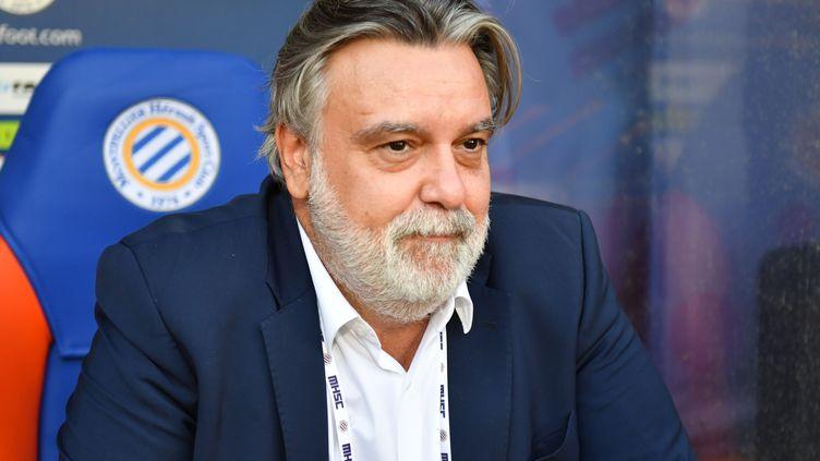 Le président de Montpellier Laurent Nicollin impose le chômage partiel à son club (PASCAL GUYOT / AFP)