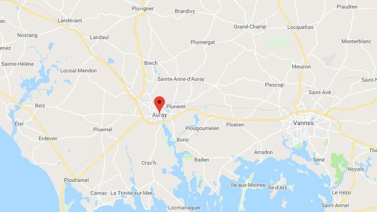 L'homme a été arrêté et conduit à la brigade de gendarmerie d'Auray. (GOOGLE MAPS)