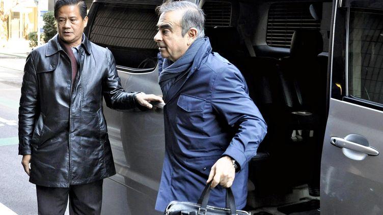 L'ancien PDG de Renault-Nissan, Carlos Ghosn, le 3 avril 2019 à Tokyo (Japon). (TAKUYA ITAKURA / YOMIURI / AFP)