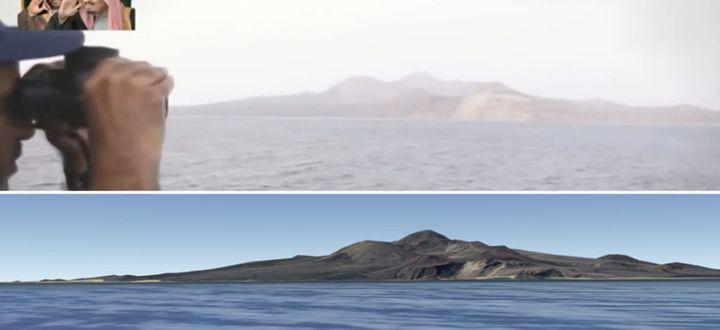 À partir des éléments topographiques, il a été possible de localiser précisément l'endroit au sud-ouest du Yémen. (DR)