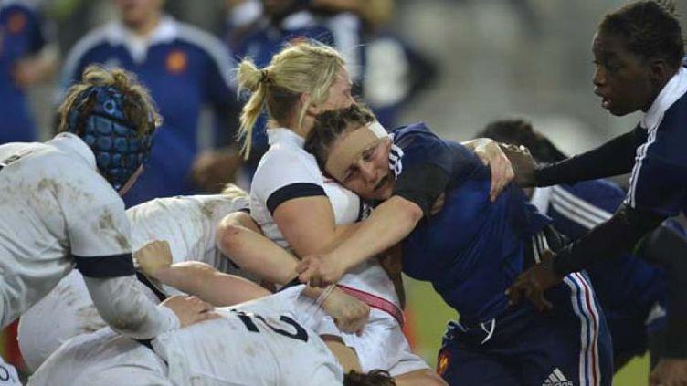 Les Anglaises et les Françaises se sont livrées un match très accroché