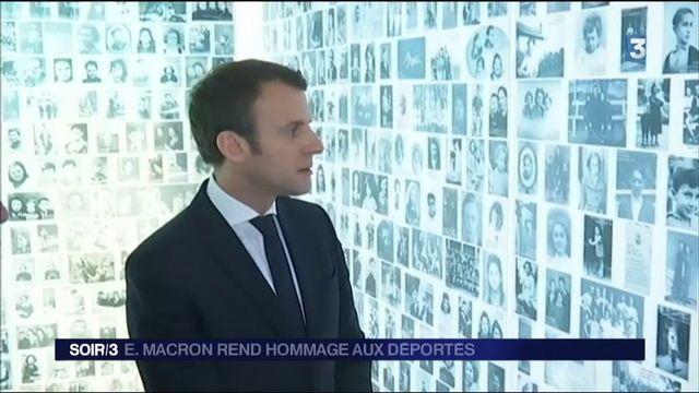 Présidentielle : Emmanuel Macron rend hommage aux victimes de la déportation