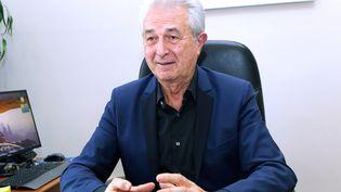 Claude Arnaud, maire de Lunel (Hérault), le 22 janvier 2015. (MAXPPP)