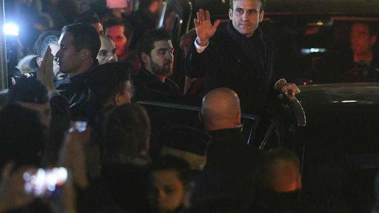 Emmanuel Macron lors de sa visite à Strasbourg (Bas-Rhin), trois jours après l'attentat meurtrier, le 14 décembre 2018. (SEBASTIEN BOZON / AFP)