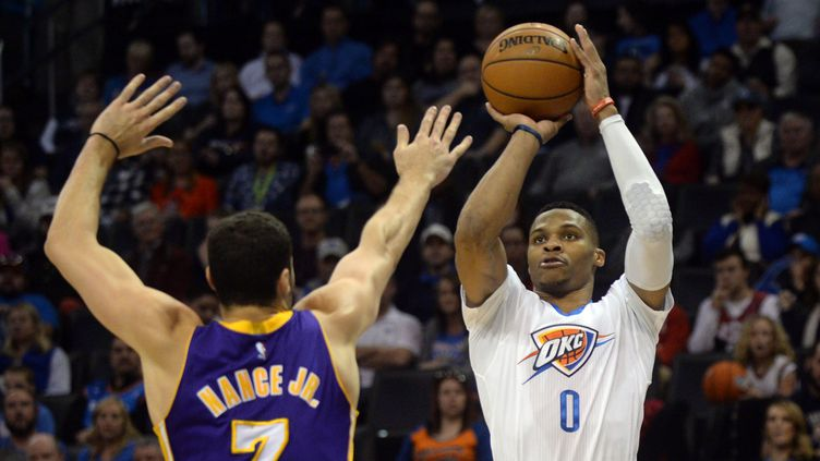Russell Westbrook n'a pas eu à forcer son talent contre les Lakers (? USA TODAY SPORTS / REUTERS / X02835)