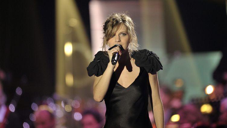 Amandine Bourgeois lors de la 25e soirée des Victoires de la musique, au Zenith de Paris, le 6 mars 2010. (MAXPPP)