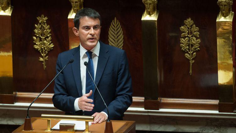 Déclaration de politique générale de Manuel Valls à l'Assemblée nationale le 16 septembre 2014 (LCHAM / SIPA)