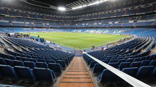 L'antre de Santiago-Bernabeu à Madrid se remplira, mercredi 14 février 2018, de 81 000 spectateurs pour Real-PSG restransmis dans 220 pays. (MAXPPP)