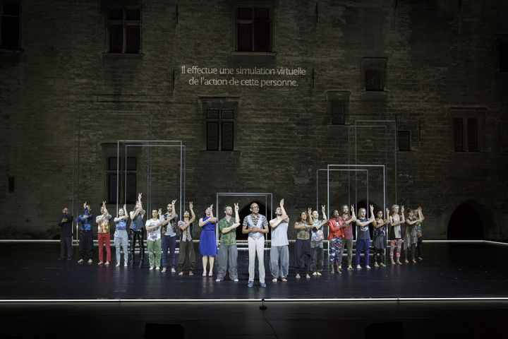 """""""Babel 7.16"""", Sidi Larbi Cherkaoui et Damien Jalet, Avignon 2016  (Christophe Raynaud de Lage / Festival d'Avignon)"""