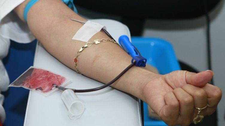 Une donneuse de sang dans la ville de Puebla, au Mexique, le 14 juin 2017. (CARLOS PACHECO / NOTIMEX)