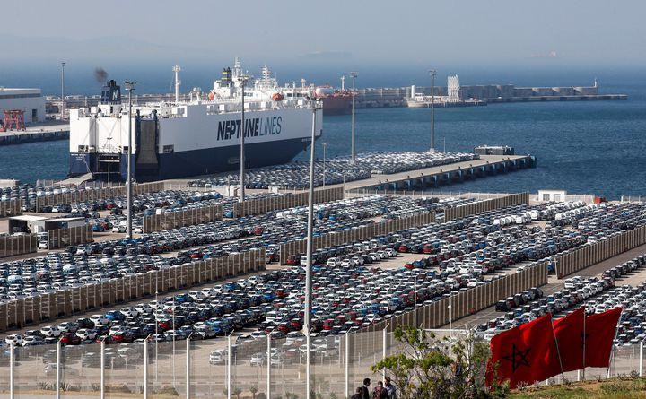 Le groupe Renault-Nissan a exporté 300000 voitures en 2017, depuis Tanger Med. (- / AFP)