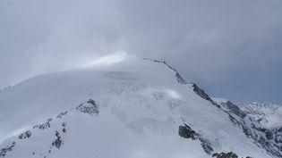 LePigne d'Arolla, un sommet des Alpes valaisannes, où les randonneurs ont été retrouvés. (HANDOUT / POLICE CANTONALE VALAISANNE / AFP)