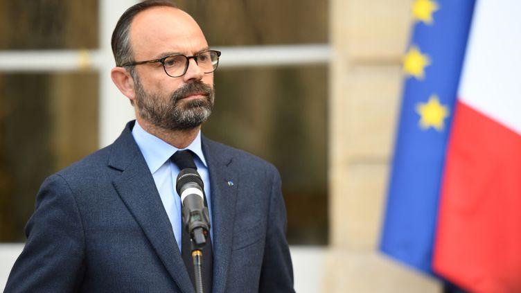 Edouard Philippe à l'hôtel Matignon, le 29 avril 2019 à Paris. (CHRISTOPHE ARCHAMBAULT / AFP)