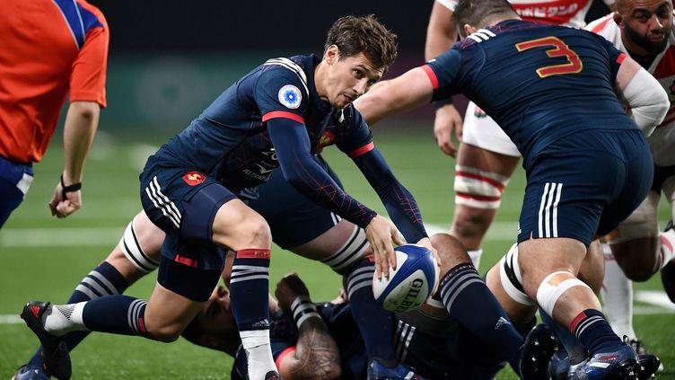 Le demi de mêlée français Baptiste Serin, lors du test-match entre la France et le Japon, à Nanterre (Hauts-de-Seine), le 25 novembre 2017. (AFP)