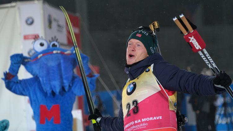 Johannes Boe était trop fort pour Martin Fourcade (ALEXEY FILIPPOV / SPUTNIK)