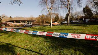 La zone deBoussy-Saint-Antoine (Essonne) où s'est produite la rixe est délimitée par la police, le 24 février 2021. (THOMAS COEX / AFP)