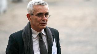 Le secrétaire général de Force ouvrière, Yves Veyrier, à Matignon le 19 décembre 2019. (MARTIN BUREAU / AFP)