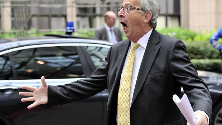 Le Premier ministre du Luxembourg,Jean-Claude Juncker, le 29 juin 2012, à Bruxelles (Belgique) pour le sommet de l'Union européenne. (GEORGES GOBET / AFP)