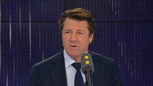 Christian Estrosi,maire de Nice. (RADIO FRANCE / JEAN-CHRISTOPHE BOURDILLAT)