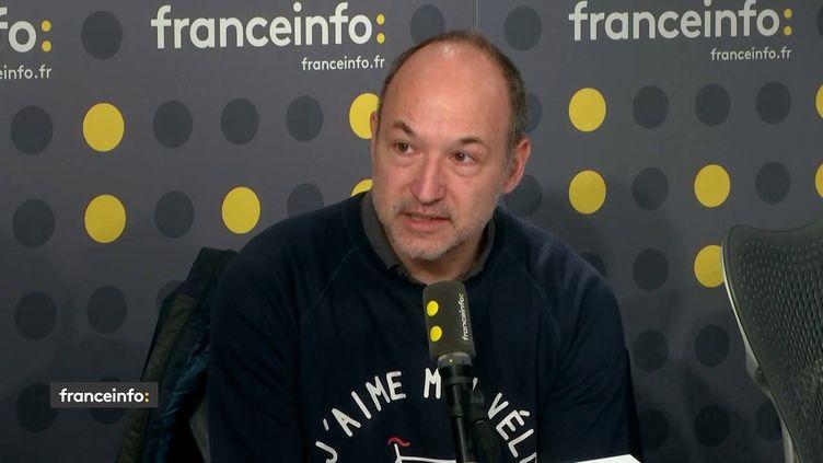 Olivier Blond, président de l'association Respire, le 22 février 2019. (RADIO FRANCE / FRANCEINFO)