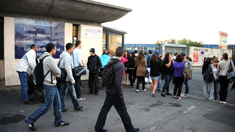 Le lycée Jean-Moulin à Béziers (Hérault), le 17 octobre 2011. (PASCAL GUYOT / AFP)