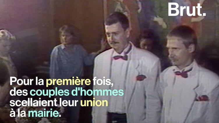 VIDEO. Il y a 30 ans, le Danemark légalisait l'union civile entre deux personnes du même sexe (BRUT)