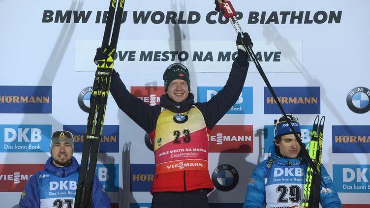 Johannes Boe remporte sa 4e victoire de la saison. (MICHAL CIZEK / AFP)