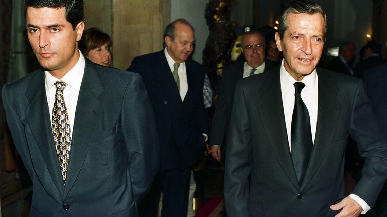 L'ancien chef du gouvernement espagnol Adolfo Suarez, en octobre 1996, à Oviedo (Espagne). (ELOY ALONSO / REUTERS)