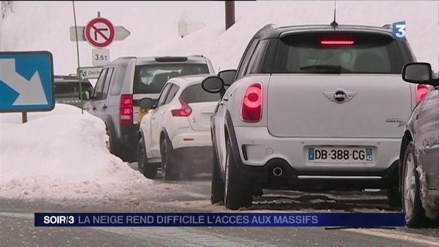 Neige : journée compliquée sur la route des montagnes