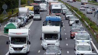 L'autoroute A7au niveau de Chasse-sur-Rhône, le 2 août 2021. (MAXPPP)